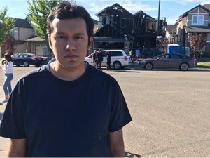 Father of dead baby tried to fight arson fire with garden hose