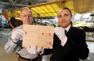 Aviation museum heralds arrival of 96-year-old letter