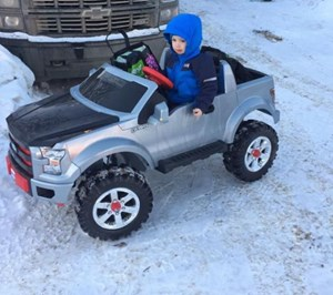 'Too fast': Fort McMurray boy, 3, gets speeding ticket in miniature F-150