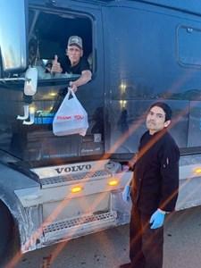 Good deed served medium rare to truckers in Wainwright