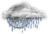 Cloudy periods with 60 percent chance of showers. Low 11.