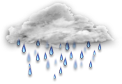 Cloudy with 60 percent chance of showers. Low 8. High 18.