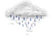 Mainly cloudy. 30 percent chance of flurries or rain showers changing to 30 percent chance of rain showers this afternoon. Wind northwest 20 km/h gusting to 40 becoming light early this afternoon. High 7. UV index 4 or moderate.