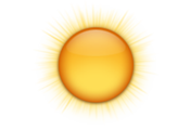 Mainly sunny. High 9. UV index 6 or high.